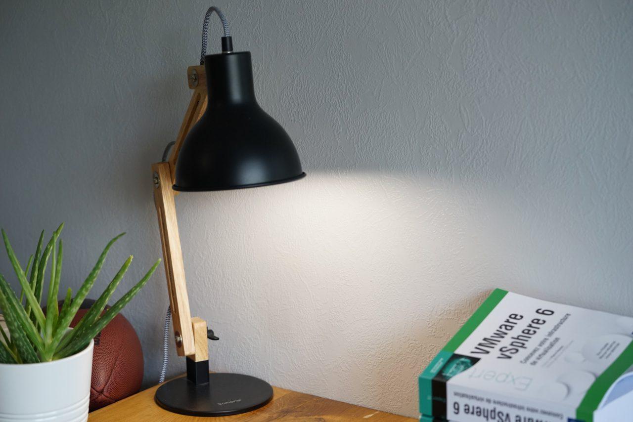 lampe bureau bois