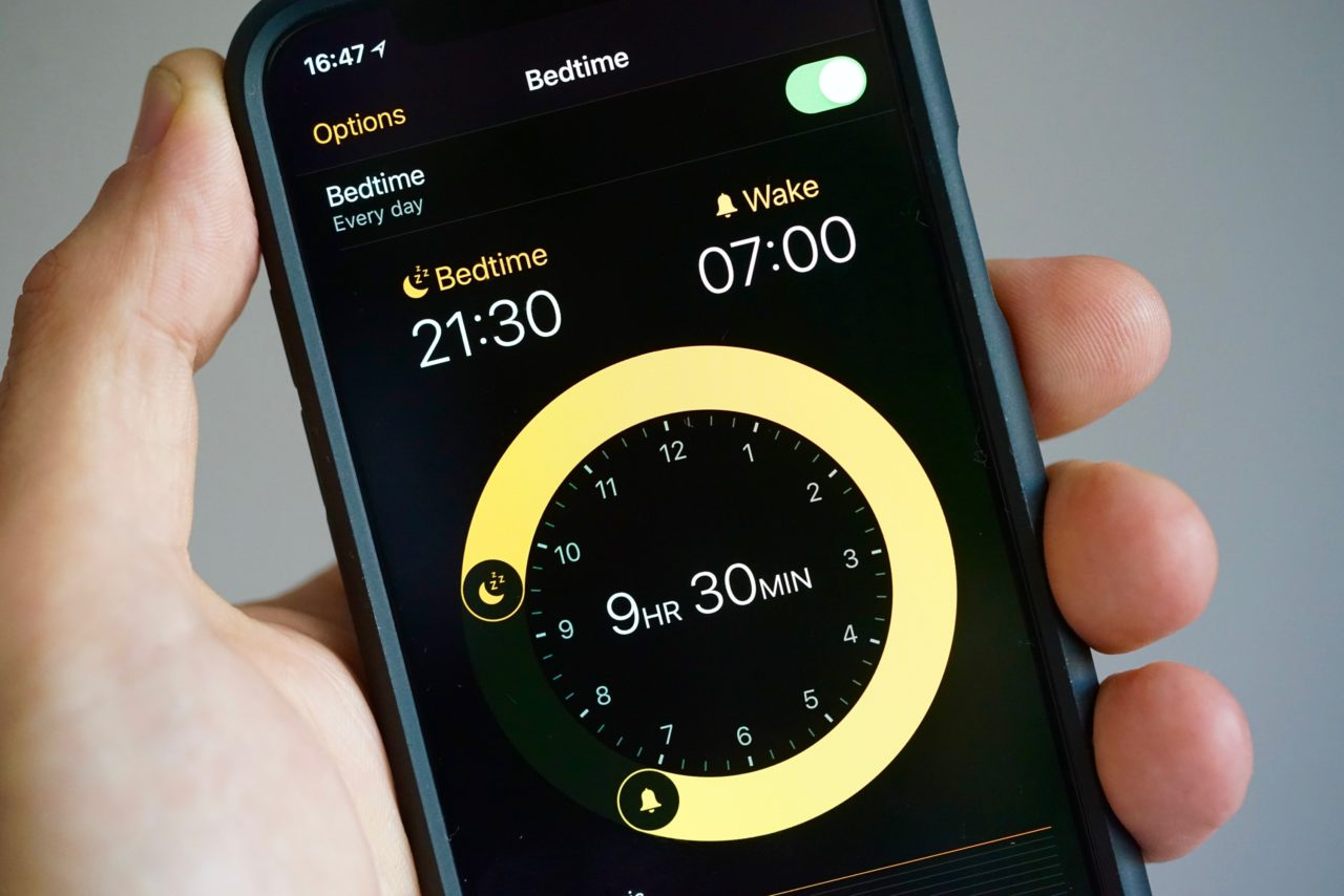iphone x bedtime