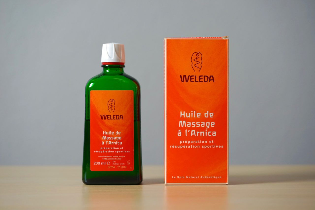 huile massage sportif arnica