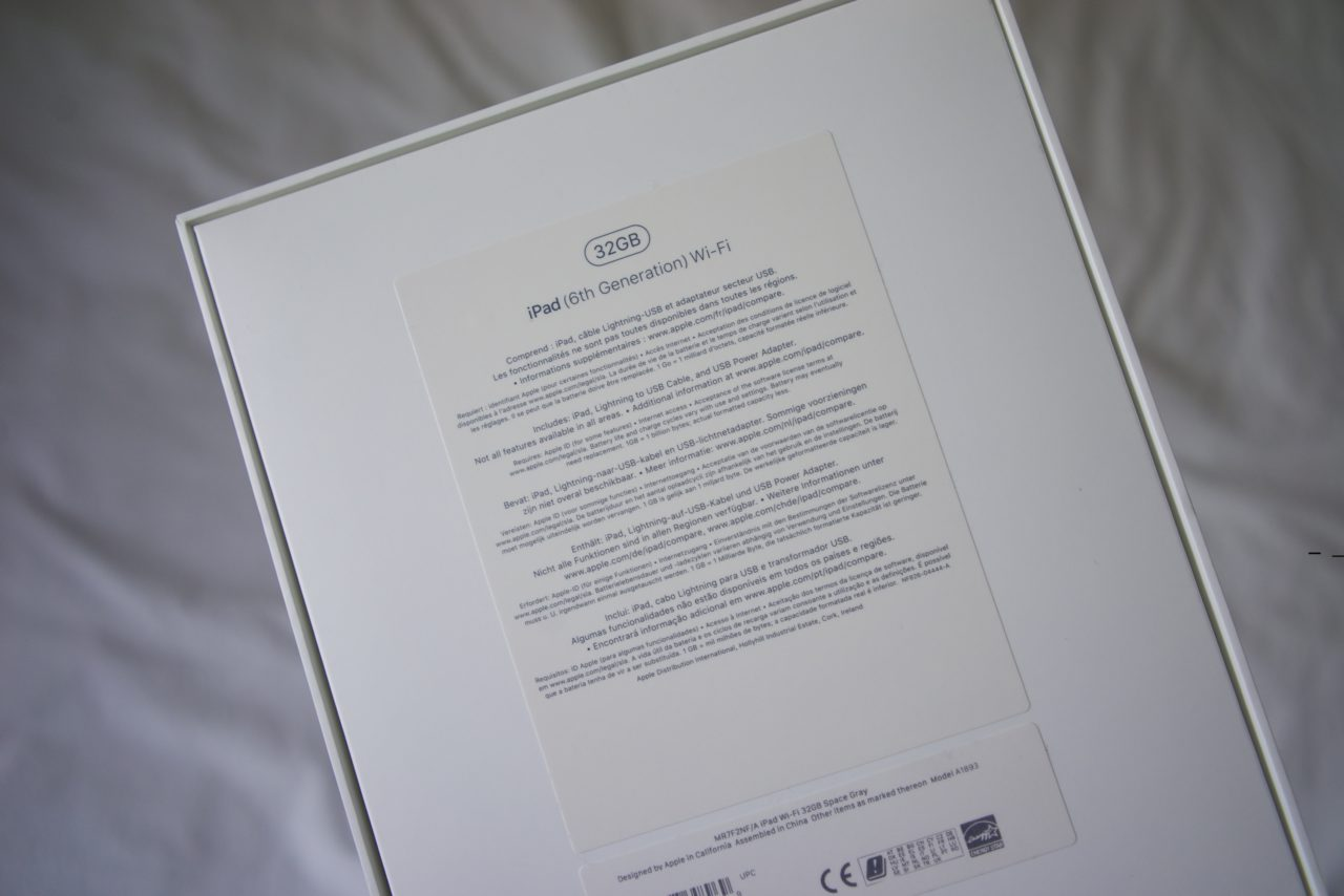 ipad 32 GB box
