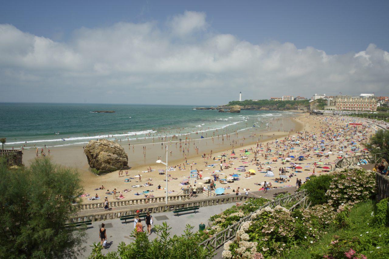 beach biarritz