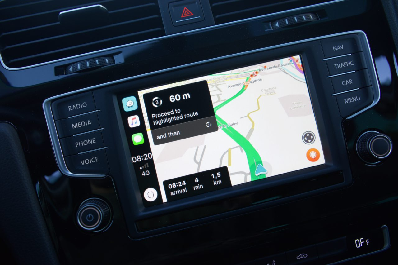 waze lenteur carplay