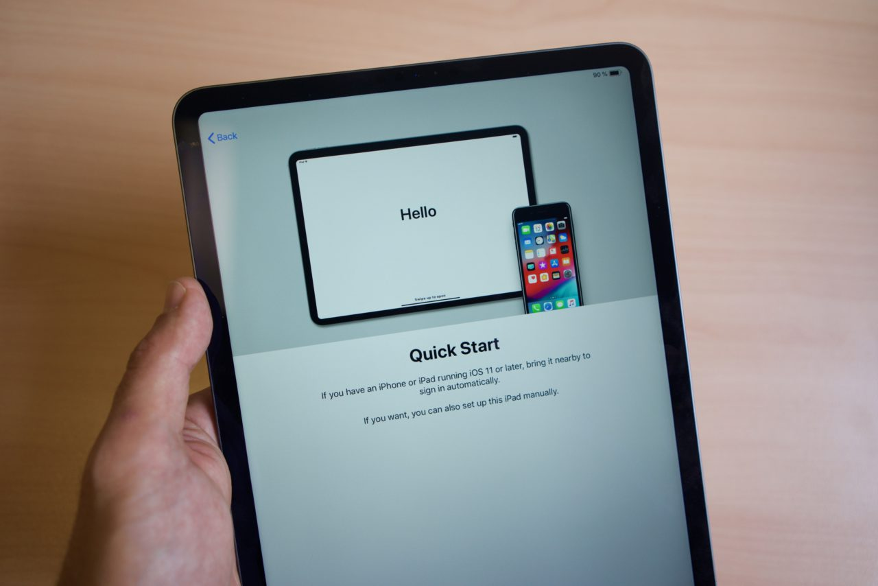 iPad Pro 2018 quick start