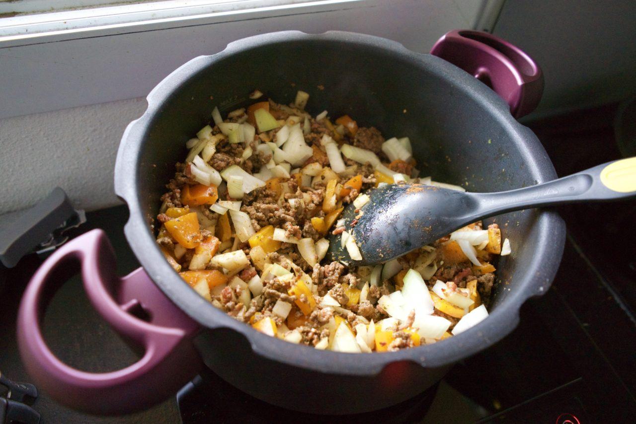 chili con carne poivrons oignons