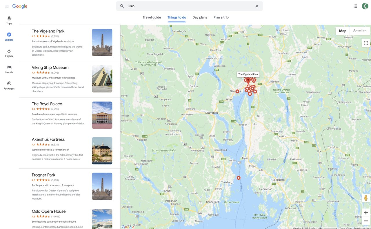 google travel things to do