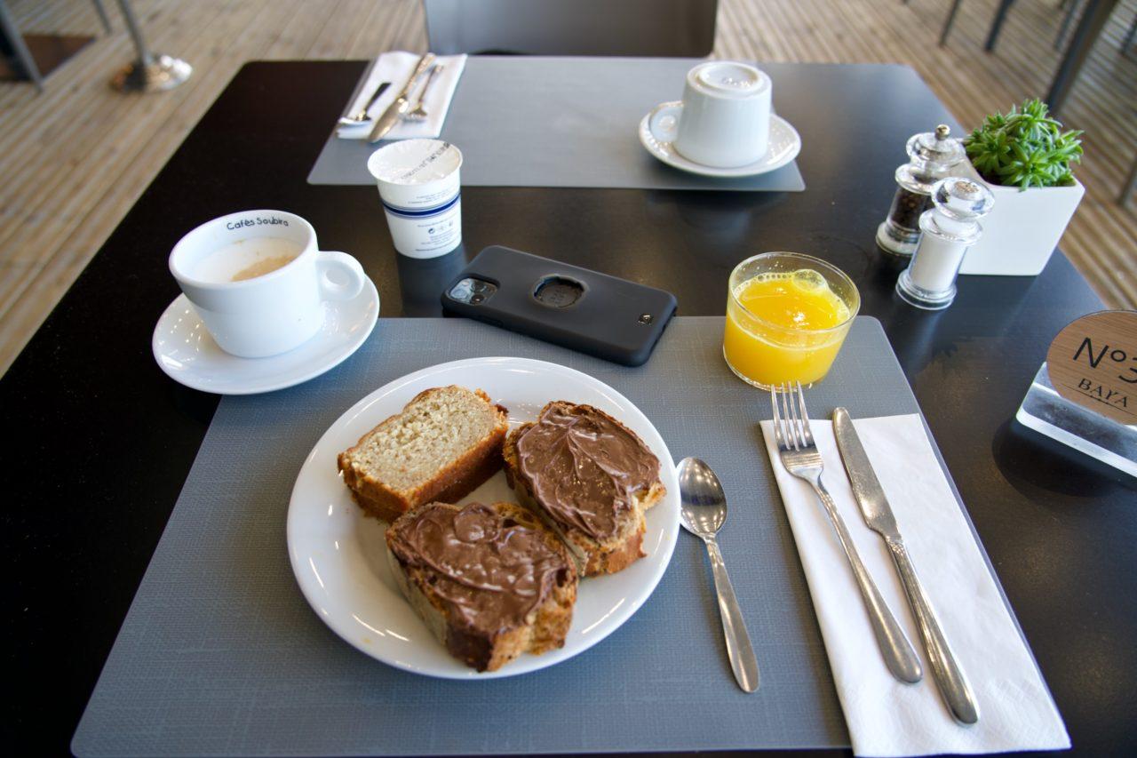 breakfast baya hotel capbreton