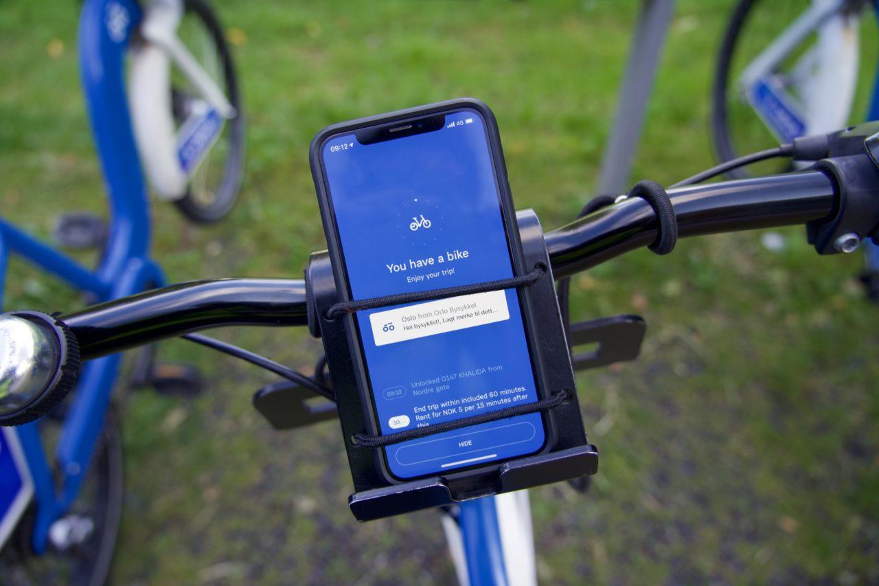 iphone oslo city bike