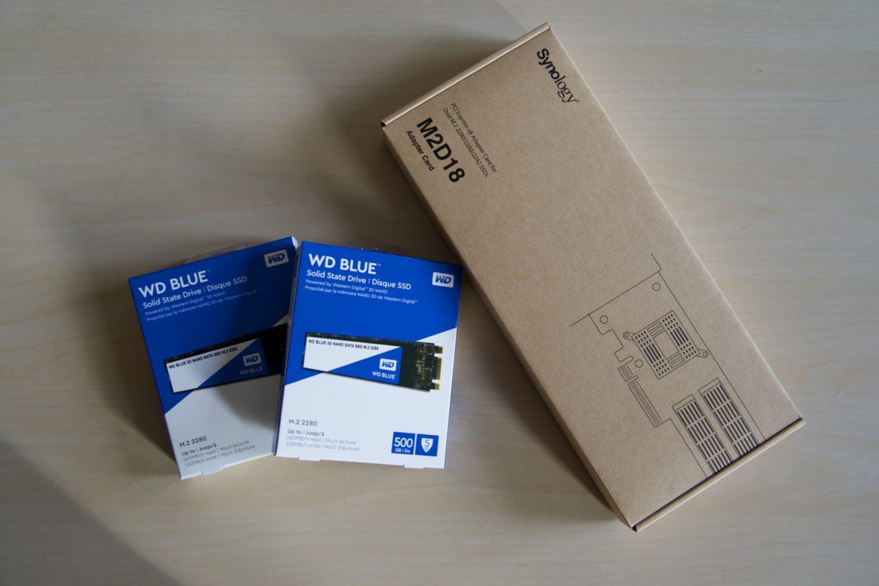 synology M2D18 SSD WD Blue M2