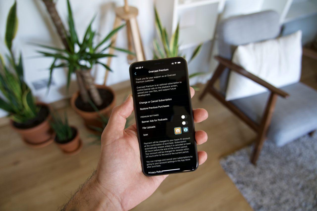 Overcast Premium iPhone dark