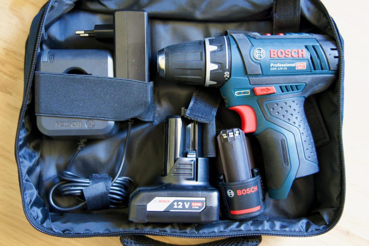perceuse GSR 12V batteries