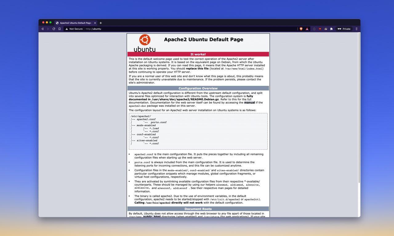 Apache2 Ubuntu Server